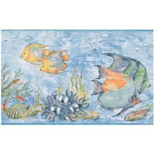 York Wallcoverings Prepasted Seahorse and Starfish Wallpaper