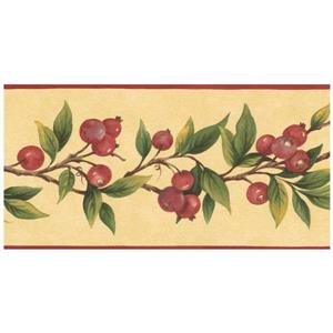 Norwall Prepasted Berries on Vine Wallpaper Border