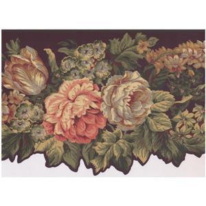 York Wallcoverings Prepasted Blooming Roses on Vine Wallpaper