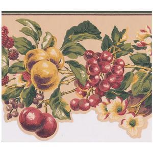 York Wallcoverings Prepasted Fruit Wallpaper Border