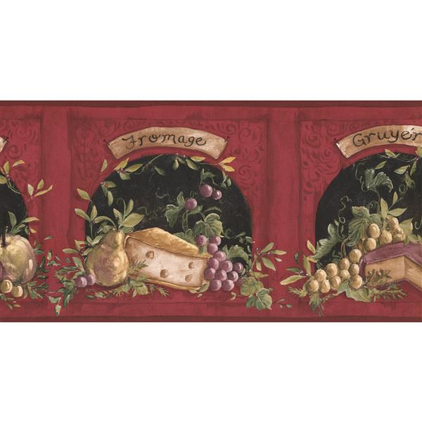 York Wallcoverings Prepasted Cheese and Pear Wallpaper Border
