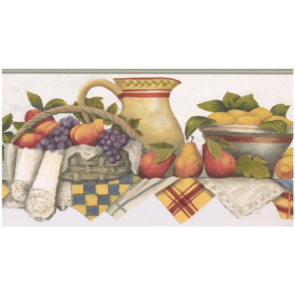 Norwall Prepasted Kitchen Shelf Wallpaper Border