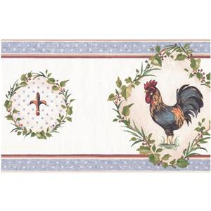York Wallcoverings Prepasted Rooster and Fleur-de-lis Wallpaper