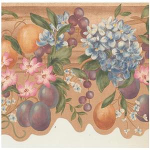 York Wallcoverings Prepasted Vintage Fruit Wallpaper Border