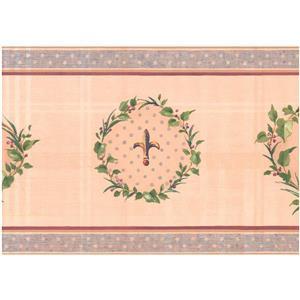 York Wallcoverings Prepasted Rooster Fleur-de-lis Wallpaper