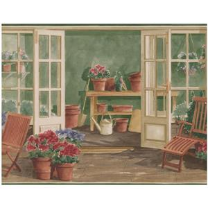 Norwall Prepasted Vintage Porch Wallpaper Border