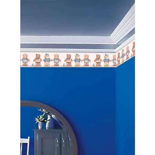 York Wallcoverings Prepasted Kids Teddy Bear Wallpaper Border