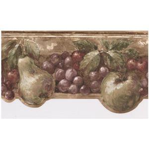 Prepasted Vintage Fruit Wallpaper Border