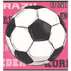 York Wallcoverings Prepasted Soccer Balls and Countries Wallpaper