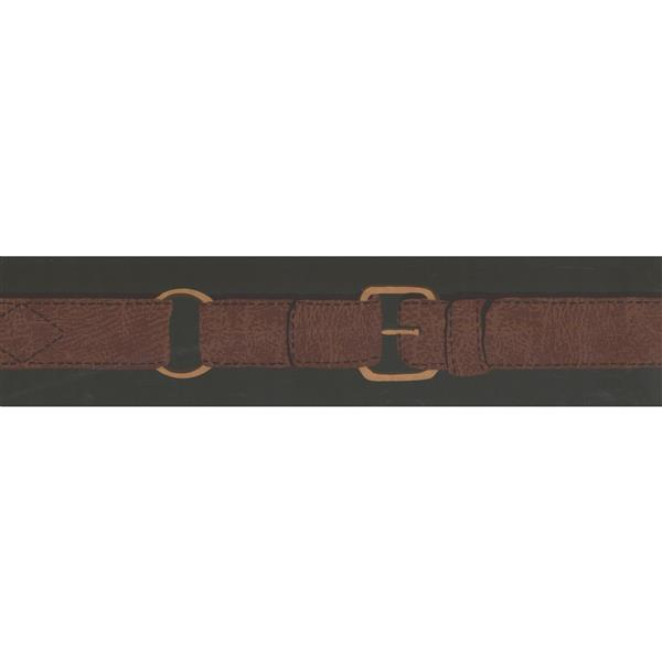 York Wallcoverings Prepasted Belt Wallpaper - Brown/Green