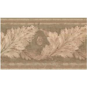 York Wallcoverings Prepasted Distressed Leaves Wallpaper - Beige/Green