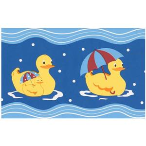 Norwall Prepasted Rubber Ducks Wallpaper - Blue