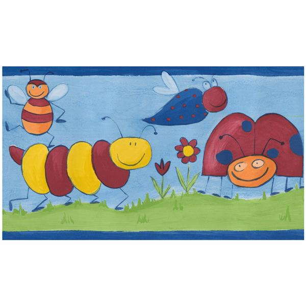 Norwall Prepasted Kids Insect Wallpaper Border