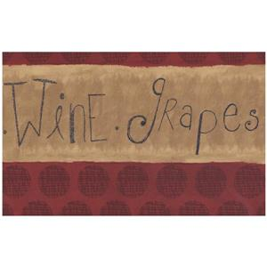 Norwall Prepasted Wine Grapes Wallpaper Border