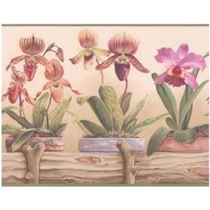 Retro Art Prepasted Wallpaper Border - Purple/Yellow