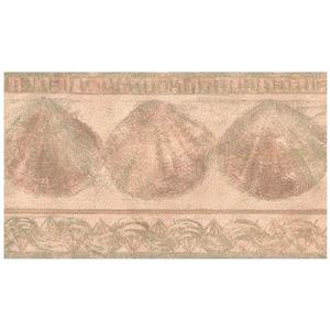 Retro Art Prepasted Seashells Wallpaper Border