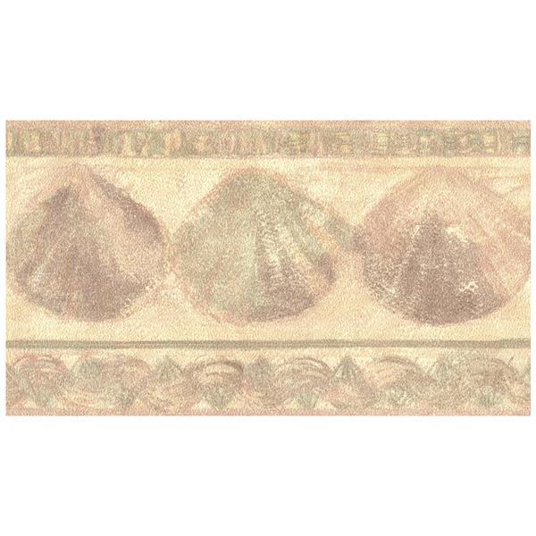 Retro Art Prepasted Seashells Wallpaper Border Yellow Rona