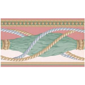 Retro Art Prepasted Folded Curtains Wallpaper - Green