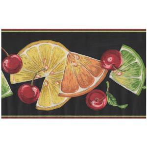 York Wallcoverings Orange Slices and Cherries Wallpaper