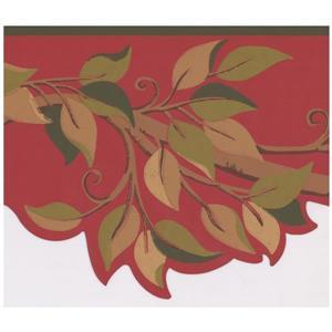 York Wallcoverings Leaves on Tree Branch Wallpaper - Green/Beige