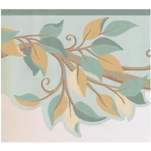 York Wallcoverings Leaves on Tree Branch Wallpaper - Brown/Beige