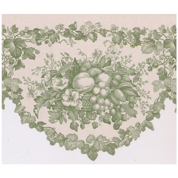 Retro Art Vintage Fruit Baskets Wallpaper - Green