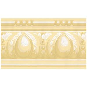 York Wallcoverings Victorian Wallpaper Border - Yellow/White