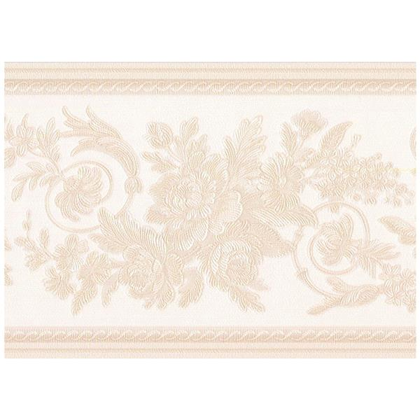 Retro Art Abstract Damask Wallpaper - Beige