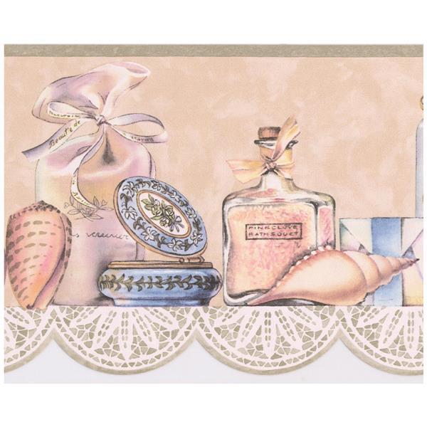 Retro Art Vintage Perfume Wallpaper Border