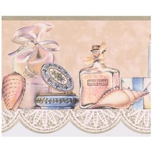 Retro Art Vintage Perfume Wallpaper Border