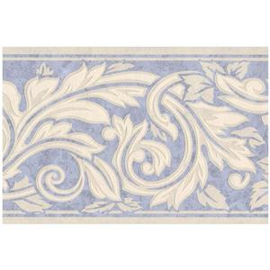 Retro Art Damask Wallpaper Border - White
