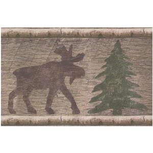 Norwall Chrismas Tree Wallpaper Border - Brown