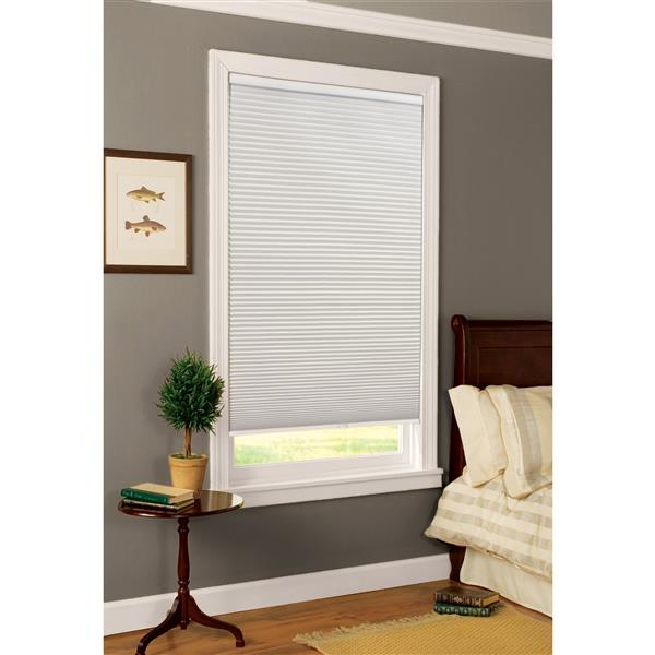 """allen + roth Blackout Cellular Shade - 56.5"""" x 84"""" - Polyester - White"""