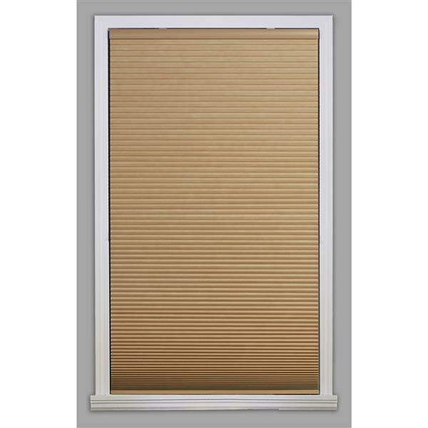 "allen + roth Blackout Cellular Shade- 64.5"" x 64""- Polyester- Khaki/White"