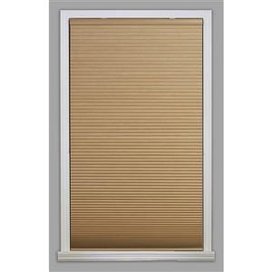 "allen + roth Blackout Cellular Shade- 61.5"" x 64""- Polyester- Khaki/White"