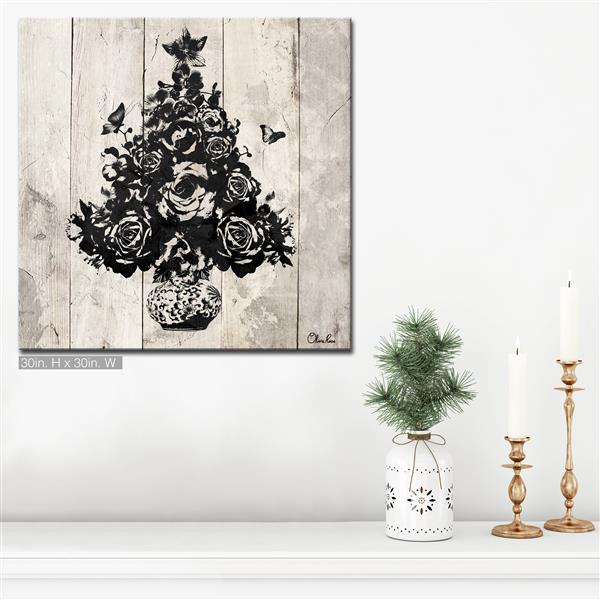 Ready2HangArt Christmas Tree Canvas Wall Art - 30-in - Brown