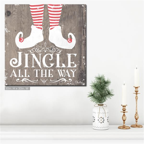 Décoration murale sur toile «Jingle all the Way», 30""
