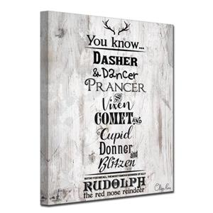 Christmas Reindeer List Canvas Wall Art - 30