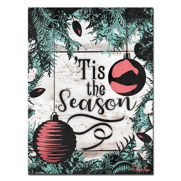 """Décoration murale sur toile «Tis the Season», 30"""" x 40"""""""