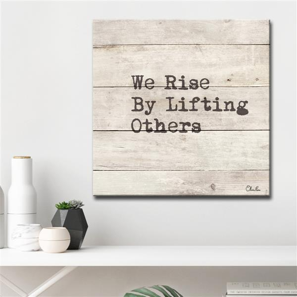 "Rise Inspirational Canvas Wall Décor - 30"" - Brown"