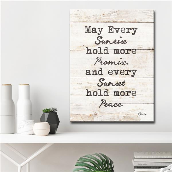 """Every Sunrise & Sunset Wall Décor - 30"""" - White"""