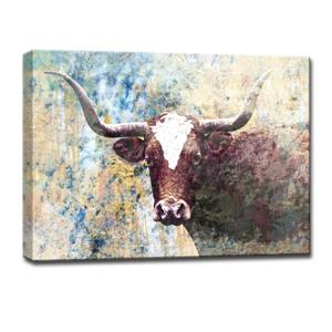 Long Horns Canvas Wall Décor - 40