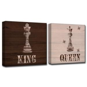 King & Queen Canvas Wall Décor - 40