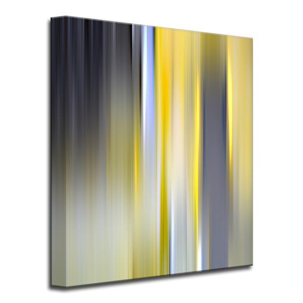 "Blur Stripes Canvas Wall Décor - 30"" - Yellow"