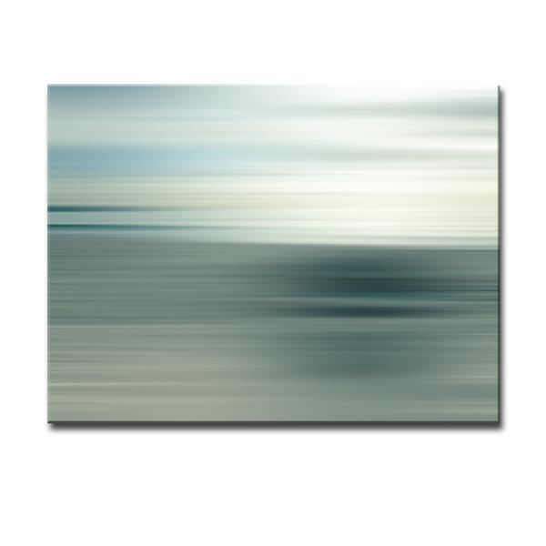 Ready2HangArt Blur Stripes Canvas Wall Décor - 40-in - Gray