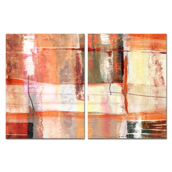 "Abstract Spa Canvas Wall Décor Set - 60"" - 2 Pcs"