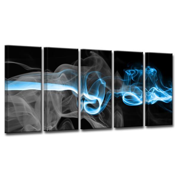 """Ens. d'art mural Glitzy Mist I, 60"""", bleu, 5 mcx"""