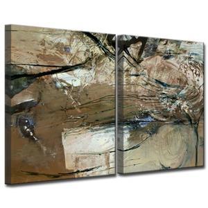 "Ens. d'art mural Smash, 60"", brun, 2 mcx"