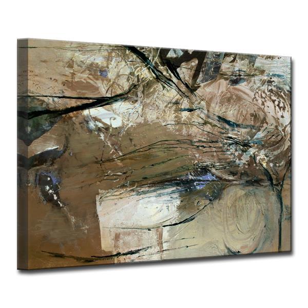 """Décoration murale sur toile Smash, 40"""", brun"""