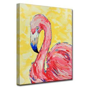 """Décoration murale sur toile, flamand, 30"""", rose"""